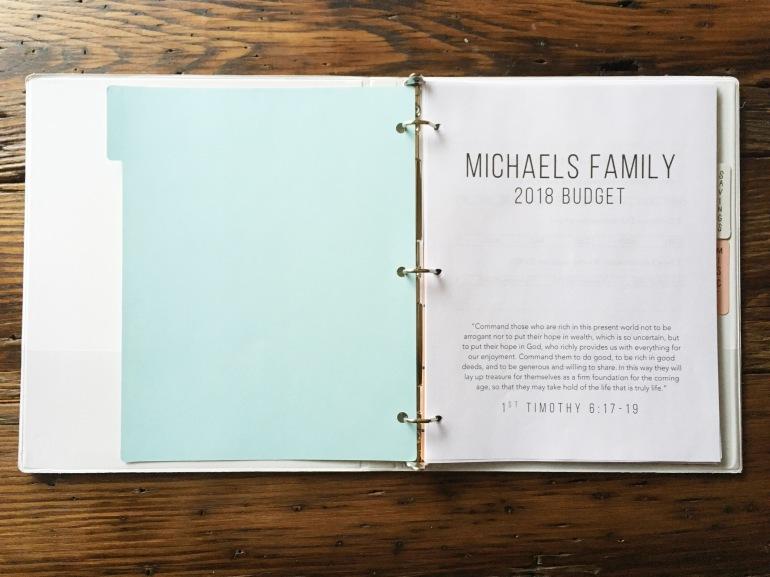 Simple Budget Binder Printables 2018