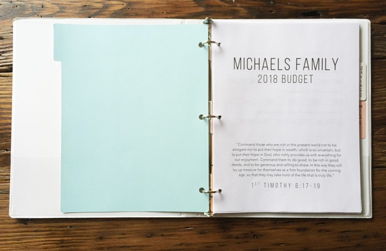 simple budget binder printables 2018