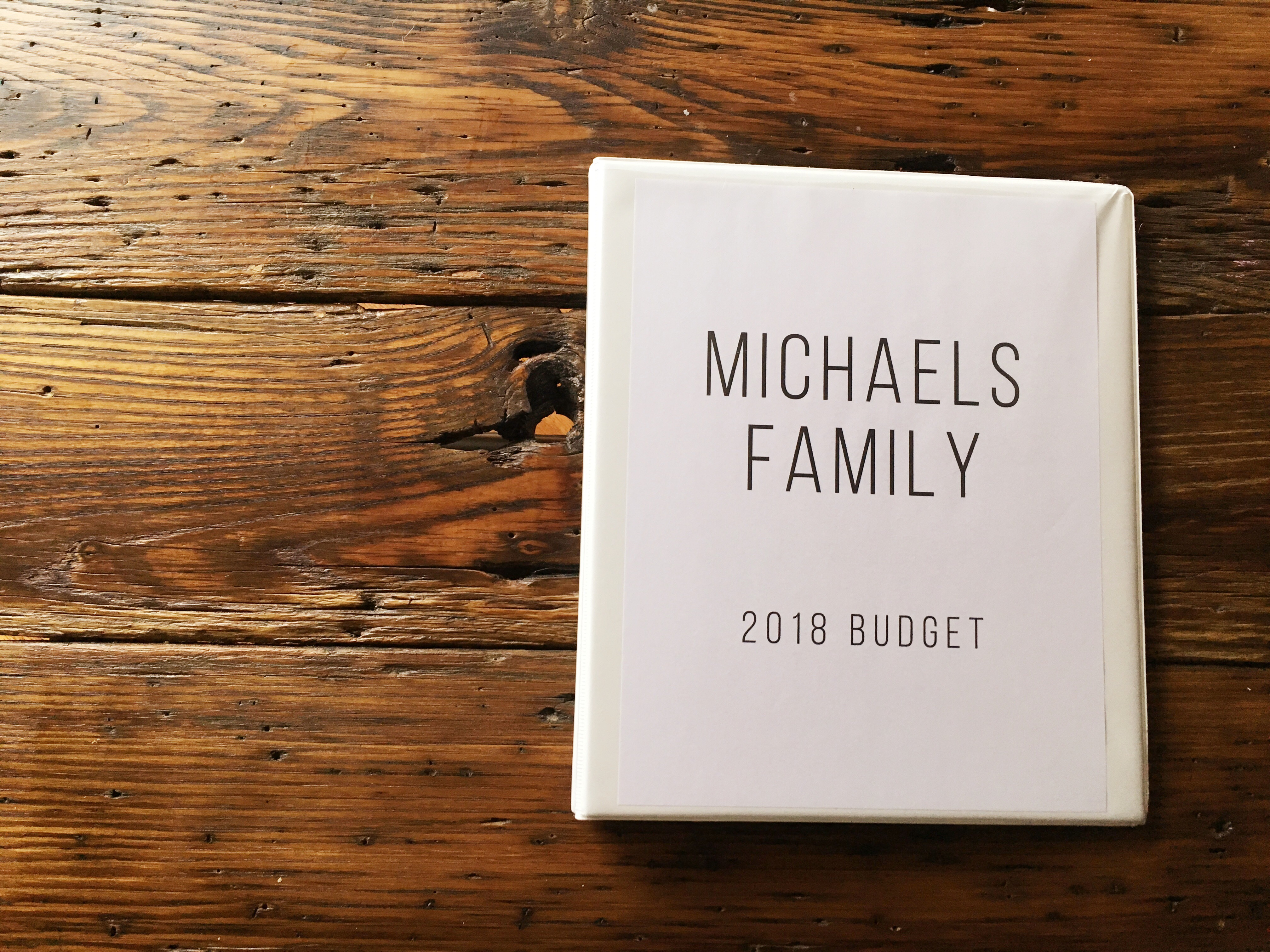 budget print out