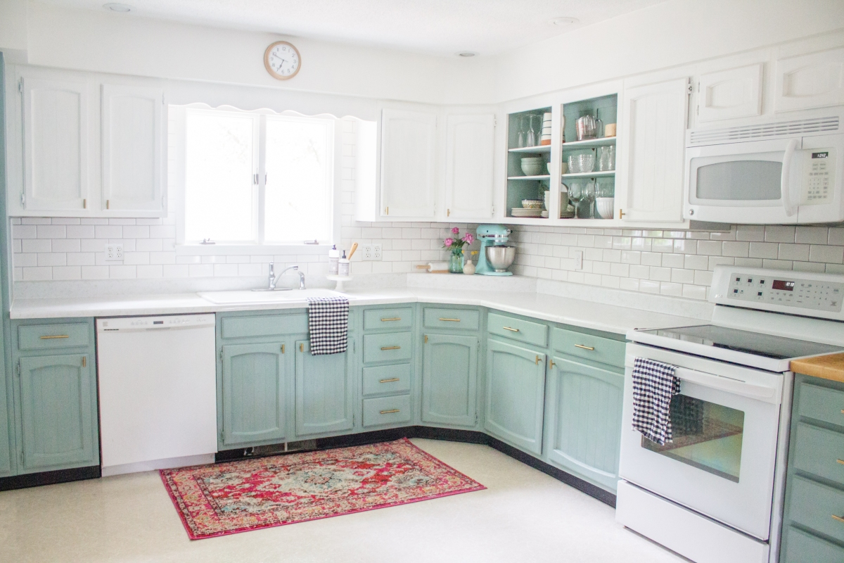 Chalk Painted Kitchen Cabinets Two Years Later